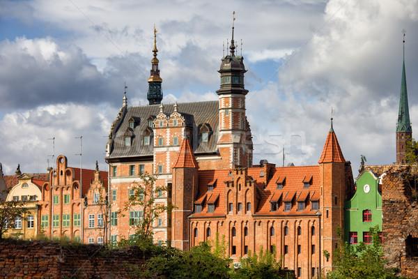 Città vecchia danzica Polonia skyline costruzione città Foto d'archivio © rognar