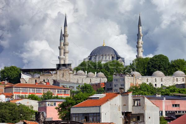 Moschea Istanbul cityscape Hill Turchia costruzione Foto d'archivio © rognar