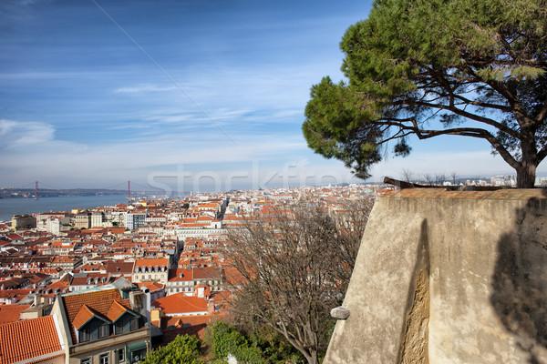 Ciudad Lisboa Portugal vista pintoresco edificio Foto stock © rognar