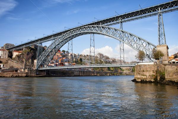 Dom Luis I Bridge over Douro River in Porto Stock photo © rognar