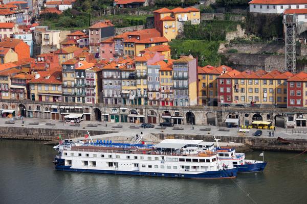 Stockfoto: Oude · binnenstad · rivier · Portugal · cruise · schepen