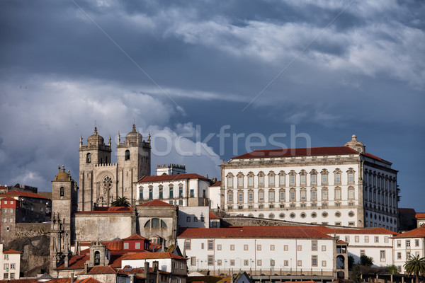 Cathedral and Episcopal Palace in Porto Stock photo © rognar