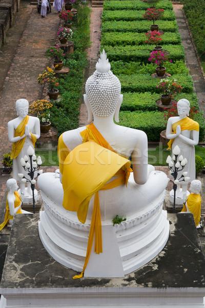 Buda oração estátua religião meditação turista Foto stock © rognar