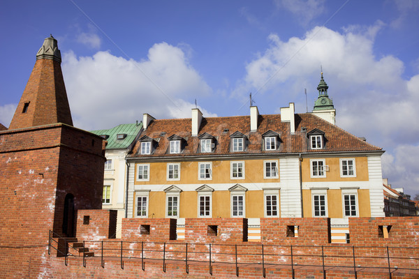 Vieille ville Varsovie mur fortification classique résidentiel Photo stock © rognar