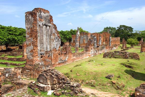 Buddhist Temple Ruins Stock photo © rognar