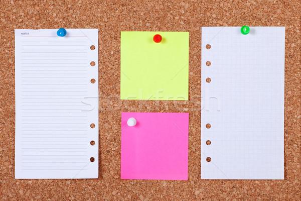 Notes on Corkboard Stock photo © rognar