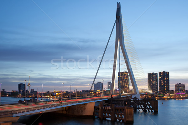 City Centre of Rotterdam in the Evening Stock photo © rognar