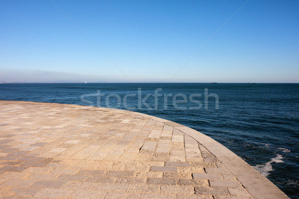 Zee promenade hemel water zomer Stockfoto © rognar