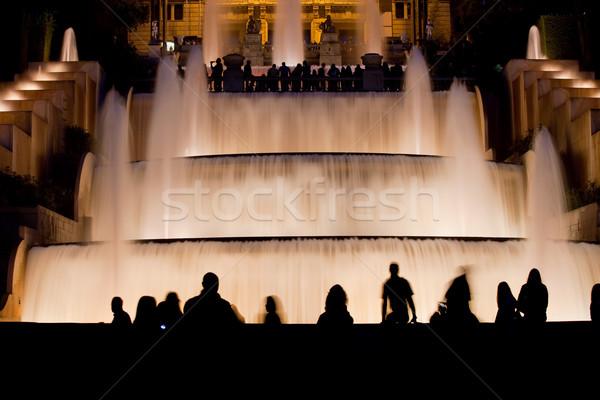 фонтан Барселона ночь воды водопада Сток-фото © rognar