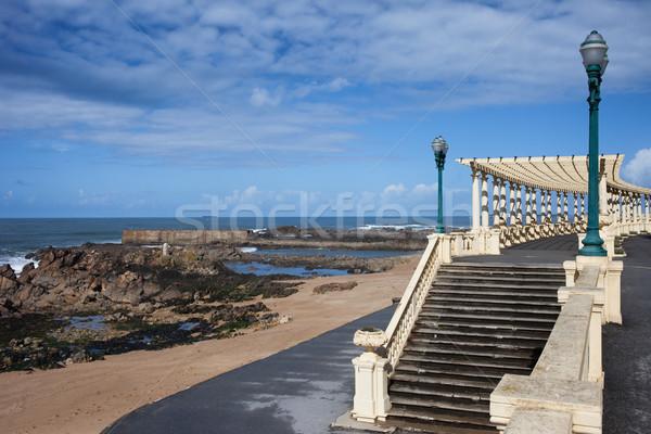 Pergola da Foz at Praia do Molhe Beach in Porto Stock photo © rognar