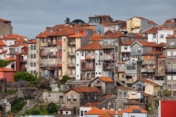 Barrio antiguo casas Portugal edad histórico ciudad Foto stock © rognar