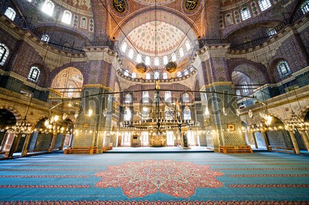 New Mosque Interior in Istanbul Stock photo © rognar