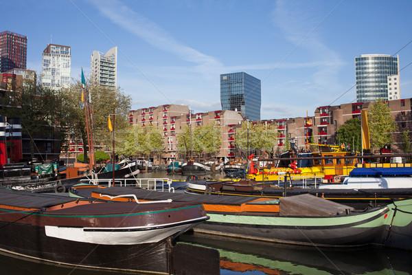 Rotterdam Cityscape Hollanda şehir merkez güney Stok fotoğraf © rognar