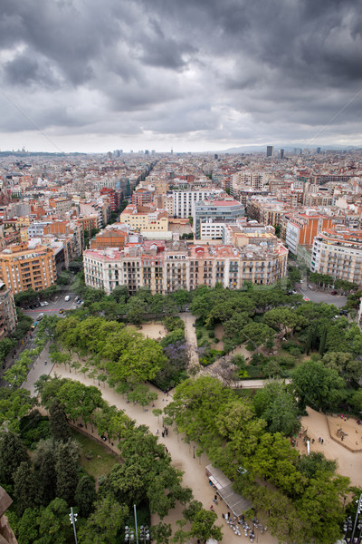 Barcelona Cityscape from Above Stock photo © rognar