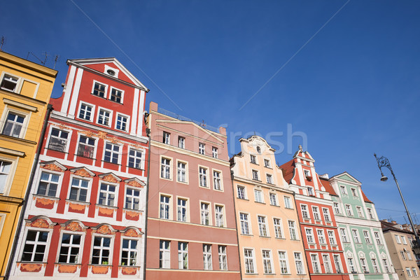 Wroclaw Old Town Houses Stock photo © rognar