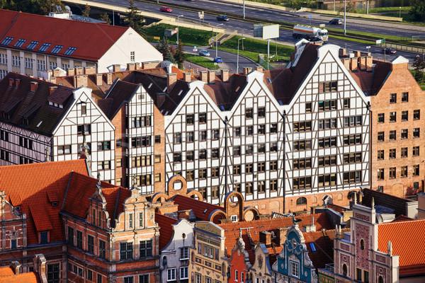 Danzica appartamento edifici architettura storica Polonia Foto d'archivio © rognar