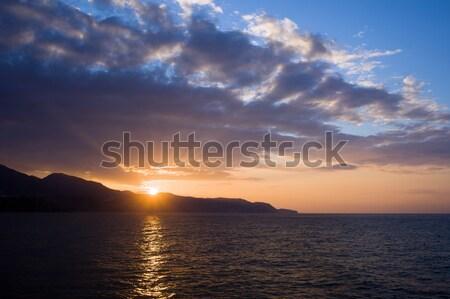 Naplemente Spanyolország nyugalmas mediterrán tenger Andalúzia Stock fotó © rognar