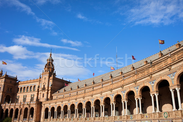 Plaza de Espana Colonnade in Seville Stock photo © rognar