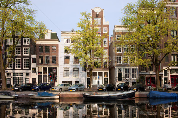 Houses in Amsterdam Stock photo © rognar