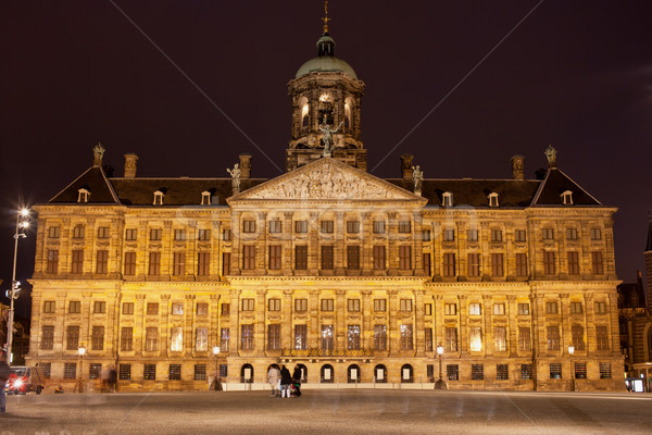 Stock photo: Royal Palace in Amsterdam at Night