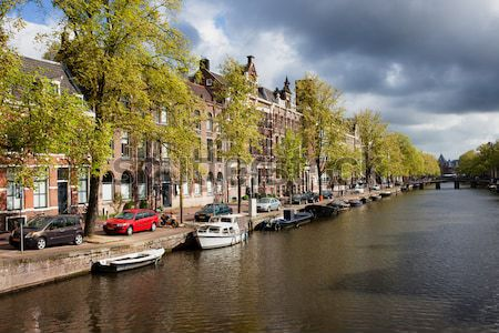 Canals in Amsterdam Stock photo © rognar
