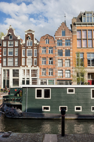 Stadt Amsterdam holland Stil Kanal Stock foto © rognar