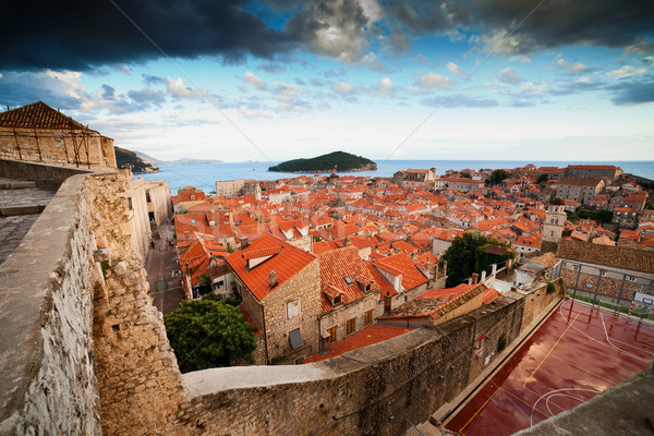 Old Town of Dubrovnik in Croatia Stock photo © rognar