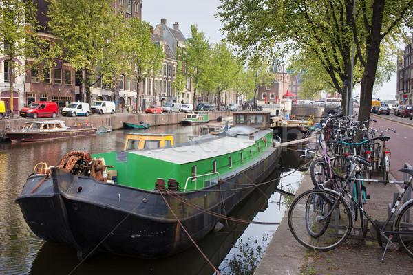 Geldersekade Canal in Amsterdam Stock photo © rognar