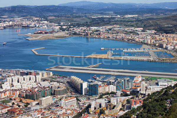 Cities of Gibraltar and La Linea Stock photo © rognar