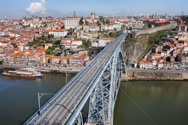 Città Portogallo ponte casa mondo edifici Foto d'archivio © rognar
