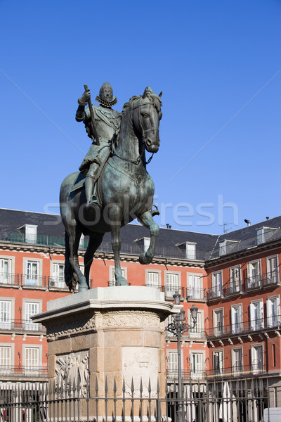 King Philip III Monument in Madrid Stock photo © rognar