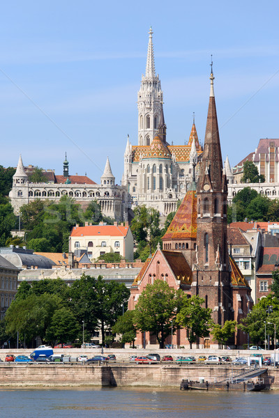 Churches of Budapest Stock photo © rognar