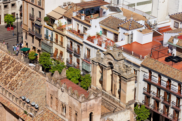 Old Town of Seville in Spain Stock photo © rognar