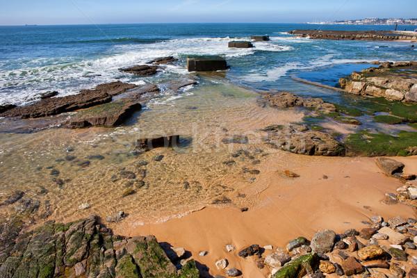Atlantic Ocean Shoreline in Estoril Stock photo © rognar