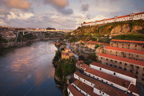 City of Porto at Sunset in Portugal Stock photo © rognar