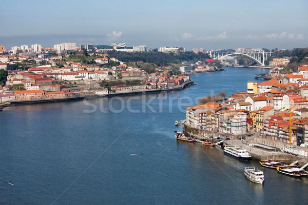 景観 ポルトガル 川 都市 家 ホーム ストックフォト © rognar