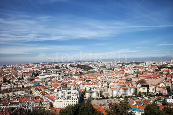 Vue ville Lisbonne Portugal centre Skyline Photo stock © rognar