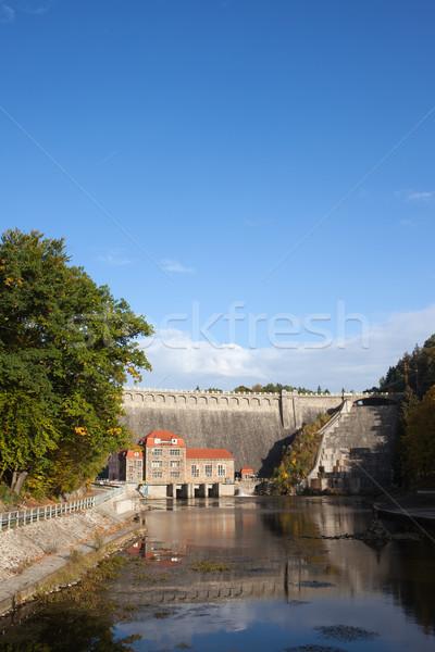 Río Polonia piedra industrial planta eléctrica Foto stock © rognar