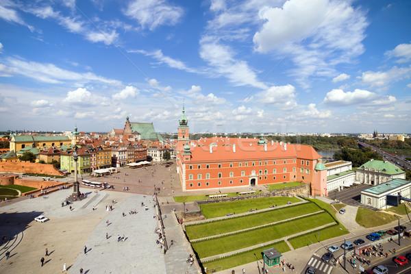 старый город Варшава королевский замок Польша здании Сток-фото © rognar
