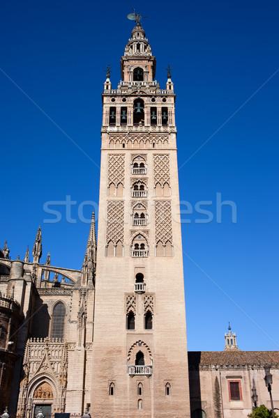 La Giralda Bell Tower in Seville Stock photo © rognar