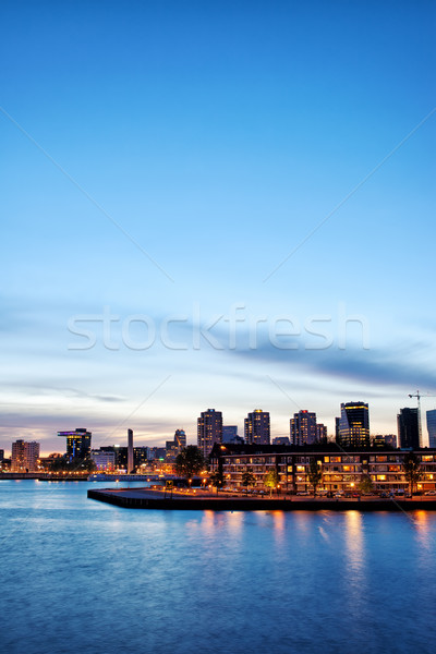 Rotterdam Skyline at Twilight Stock photo © rognar