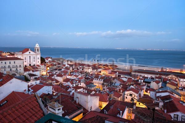 Lisbon Cityscape in the Evening Stock photo © rognar