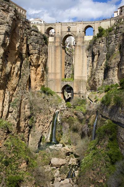 Nieuwe brug spaans historisch mijlpaal hoofd- Stockfoto © rognar