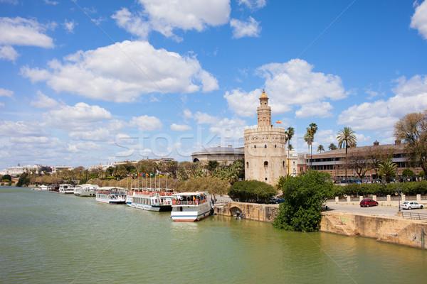 Seville River View Stock photo © rognar