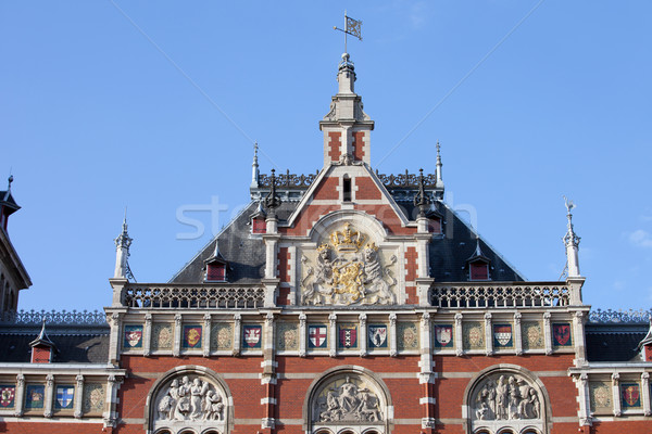 Amsterdam Central Station Rooftop Closeup Stock photo © rognar