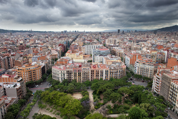 City of Barcelona from Above Stock photo © rognar