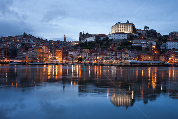 City of Porto Skyline at Dusk in Portugal Stock photo © rognar