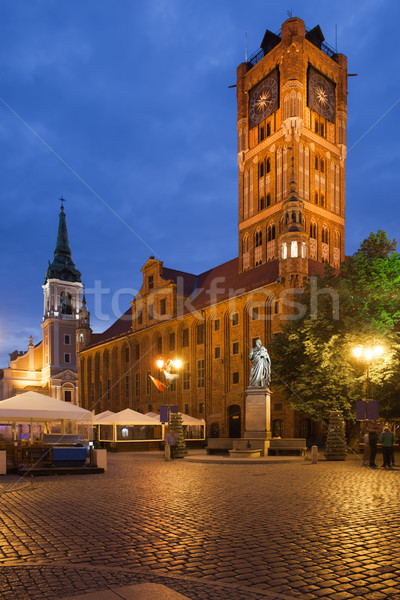 Old City Town Hall in Torun by Night Stock photo © rognar