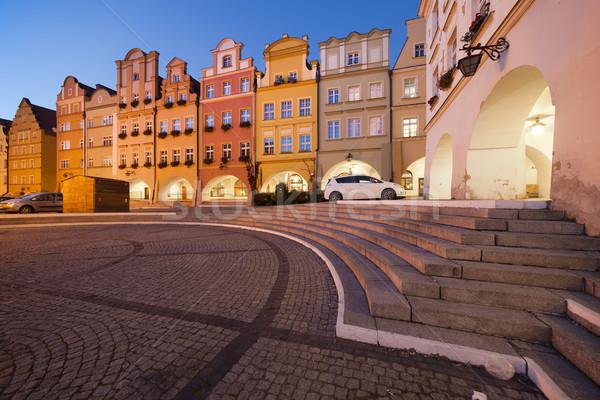 Città vecchia case notte città Polonia mercato Foto d'archivio © rognar