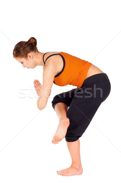Young Fit Woman Practicing Yoga Exercise Stock photo © rognar